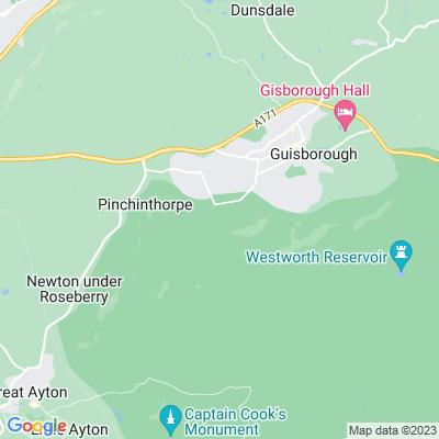 Hutton Hall park and garden, Guisborough Location