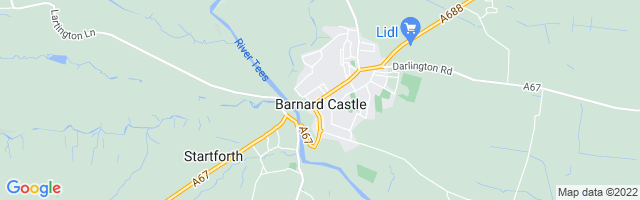 Map Of Barnard Castle