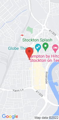 Map showing the location of the Stockton-on-Tees A1305 Roadside monitoring site