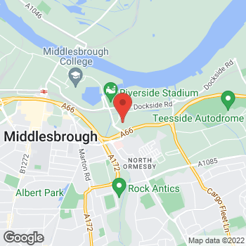 Map of The Food Warehouse Middlesborough at Bargain Booze inside The Food Warehouse, Middlesborough,  TS3 6AT