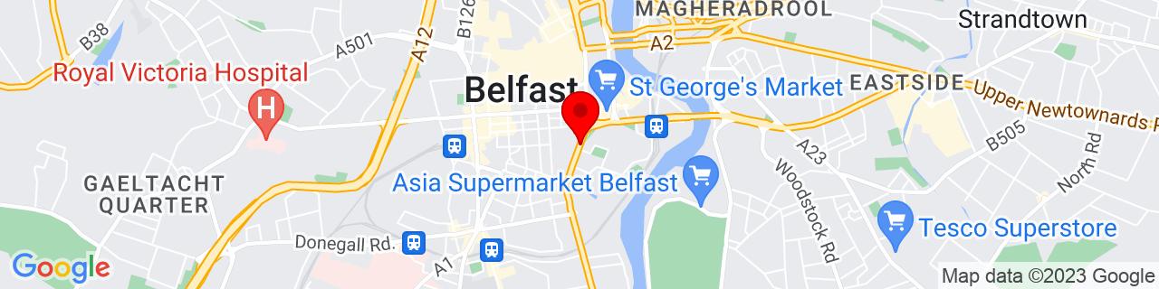 Google Map of 54.5942129, -5.924505899999986