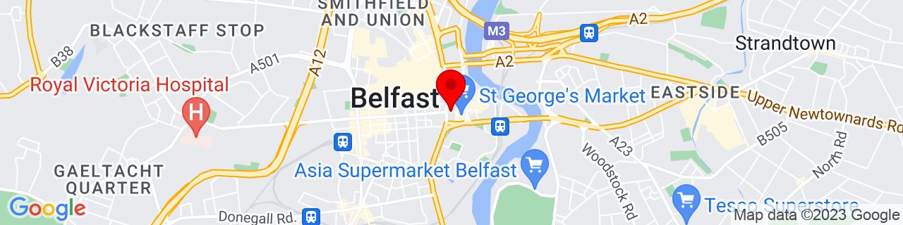 Google Map of 54.596282155849366, -5.9232321648040624