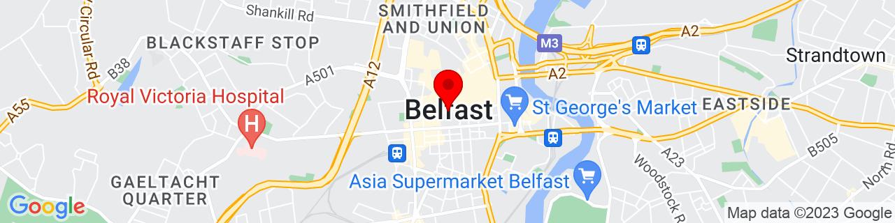 Google Map of 54.59711666666667, -5.930138888888889