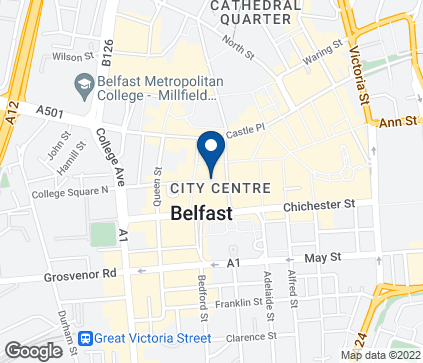 Map of 35-47  Donegal Place in Belfast