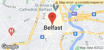Map of Victoria Gault Flowers Ltd at 24 Queens Arcade, Belfast, BFS BT1 5FF