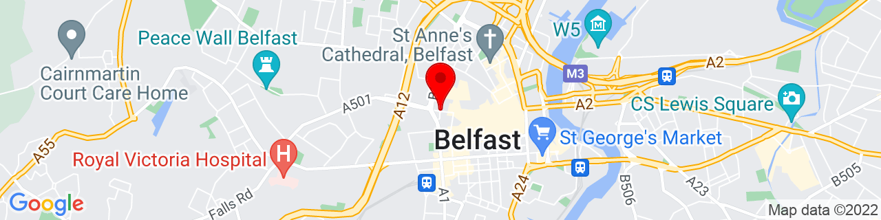 Google Map of 54.5993811, -5.934650199999965