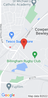 Map showing the location of the Billingham monitoring site