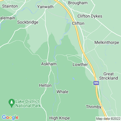 Lowther Castle Location