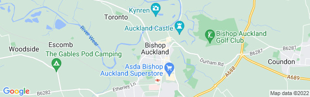 Map Of Bishop Auckland