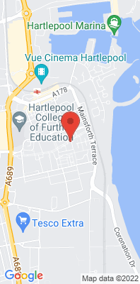 Map showing the location of the Hartlepool St Abbs Walk monitoring site