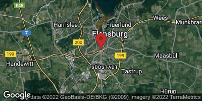 Google Map of Flensburg