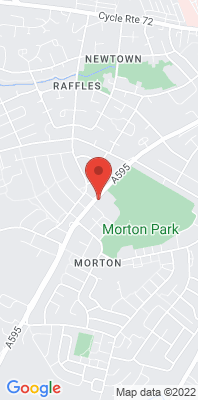 Map showing the location of the Carlisle Morton A595 monitoring site