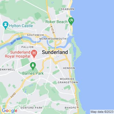 Mowbray Park, Sunderland Location