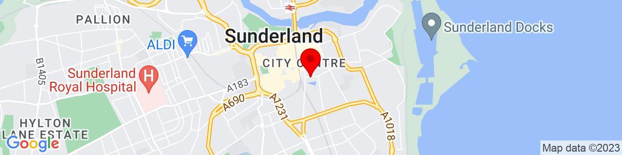 Google Map of 54.904325, -1.3802416666666666