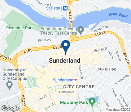 Map of 247 High Street West in Sunderland
