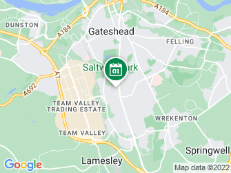 A static map of NWT Gateshead Group: Members' social night & quizzes