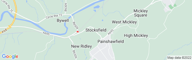 Map Of Stocksfield