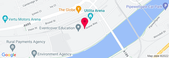 Map for Metro Radio Arena