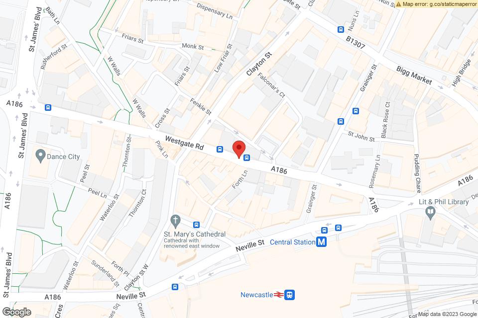 Westgate Rd, Newcastle upon Tyne, NE1 1SW map