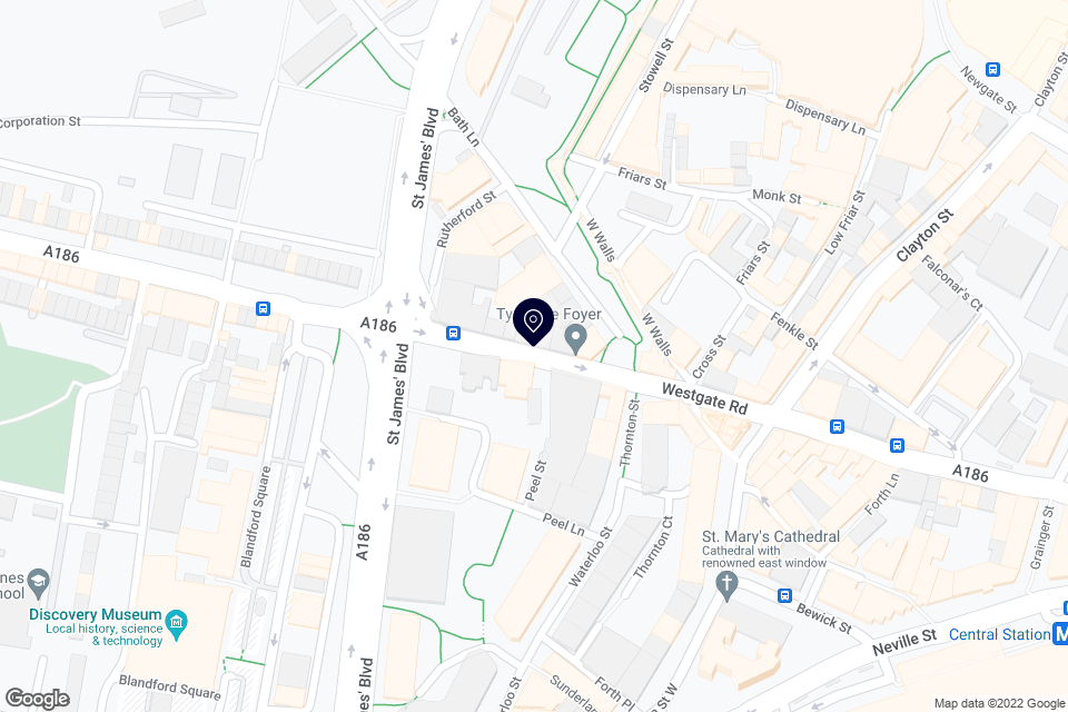 117 Westgate Rd, Newcastle upon Tyne, NE1 4AG map