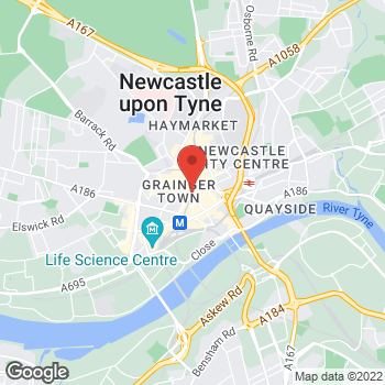 Map of Taco Bell at 84 Grainger Street, Newcastle Upon Tyne,  NE15JQ