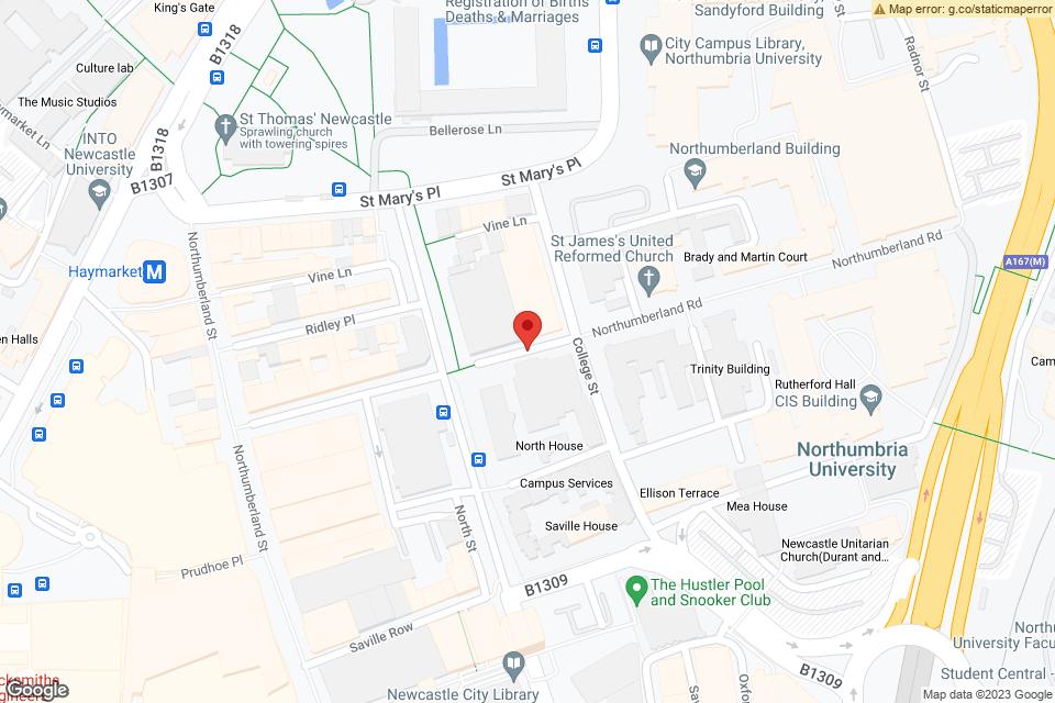 Northumberland Rd, Newcastle upon Tyne, NE1 8SF map