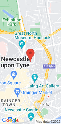Map showing the location of the Newcastle Centre monitoring site