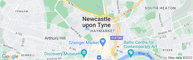 Map Of Newcastle Upon Tyne