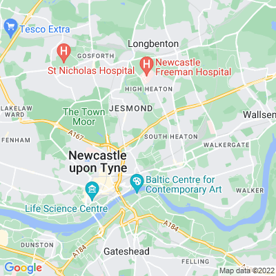 Newcastle General Cemetery Location