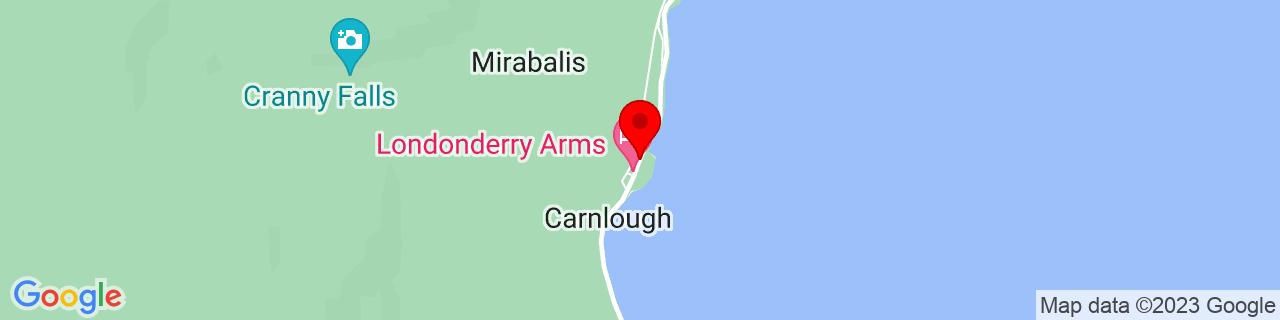 Google Map of 54.993186111111115, -5.9895861111111115