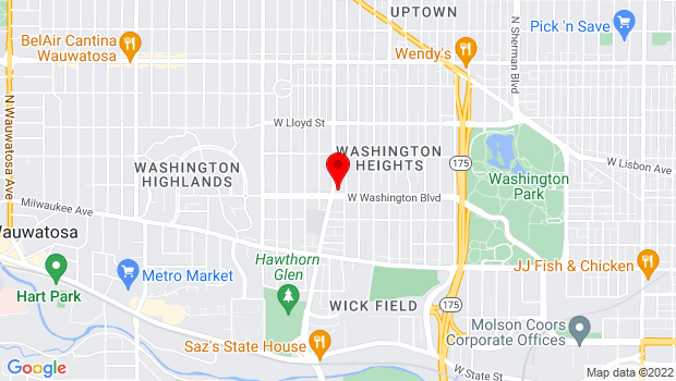 Google Map of 5400 W. Washington Blvd., Milwaukee, WI 53208