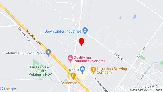 Google Map of 5400 Old Redwood Hwy, Penngrove, CA 94951