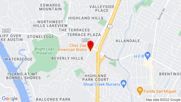 Google Map of 5406 Balcones Dr, Austin, TX 78731
