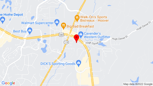 Google Map of 5414 Hwy 280, Birmingham, AL 35242