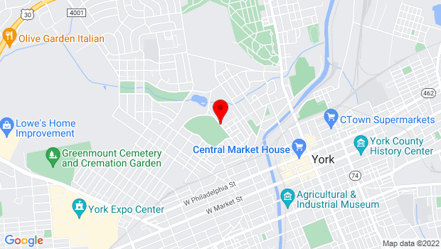 Google Map of 542 N Newberry St, York, PA 17404