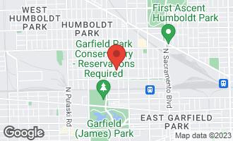 Map of 542 North Saint Louis Avenue CHICAGO, IL 60624