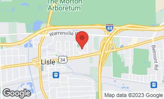 Map of 542 Spruce Lane LISLE, IL 60532
