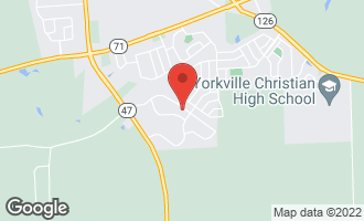 Map of 542 Windett Ridge Road YORKVILLE, IL 60560