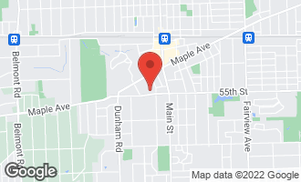 Map of 5421 Maplewood Place DOWNERS GROVE, IL 60515