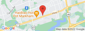 Google Map of 5426+Highway+7+East%2CMarkham%2COntario+L3P+1B7
