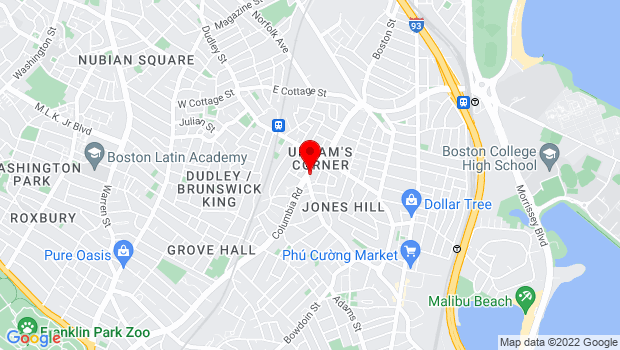 Google Map of 543 Columbia Road, Boston, MA 02124