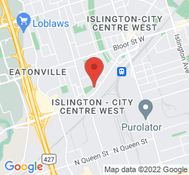 Google Map of 5448+Dundas+Street+West%2CToronto%2COntario+M9B+1B4