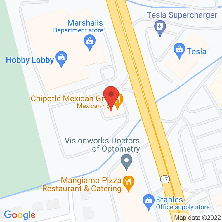 Google Map of 545 Route 17 South, Paramus, NJ 07652, 545 Route 17 South, Paramus, NJ 07652