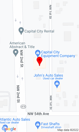Google Map of Capital City Equipment Company 5461 NW 2nd Avenue, Des Moines, IA, 50313