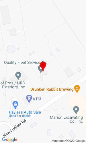 Google Map of Quality Fleet Service, Inc. 548 New Ludlow Road, South Hadley, MA, 01075