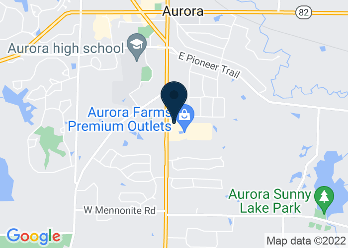 Map of 549 South Chillicothe Road, Aurora, OH 44202, United States