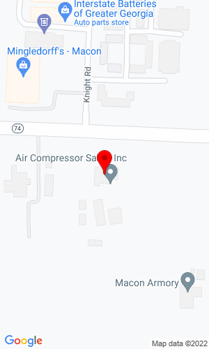 Google Map of Air Compressor Sales, Inc. 5490 Thomaston Road, Macon, GA, 31220