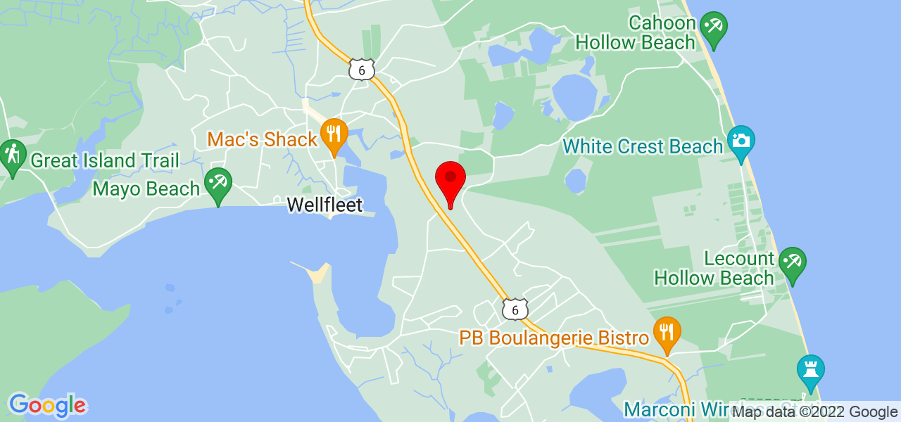 Google Map of 55 Back Dr Wellfleet MA