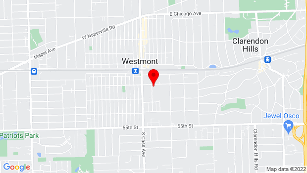 Google Map of 55 E Richmond St, Westmont, IL 60559
