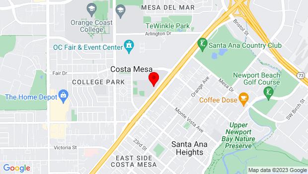 Google Map of 55 Fair Dr, Costa Mesa, CA 92626